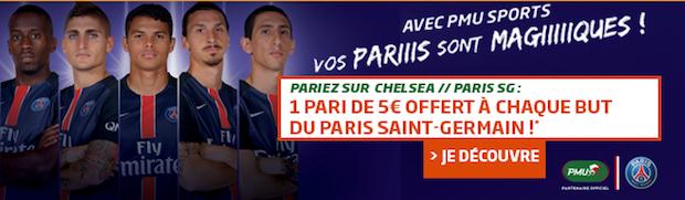 Chelsea-PSG sur PMU en Ligue des Champions