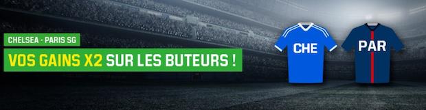Chelsea/PSG sur Unibet : doublez vos gains