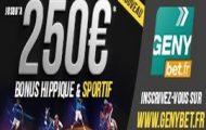 Code promo Genybet : profitez de 250 euros offerts pour vos paris sportifs et hippiques