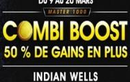 Master de tennis d'Indian Wells sur NetBet.fr : vos combinés boostés jusqu'à 50% du 9 au 20 mars