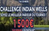 Tournoi d'Indian Wells 2016 sur ParionsWeb.fr : 1.500 € à partager chaque semaine du 7 au 20 mars