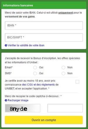 Comment s'inscrire sur Unibet