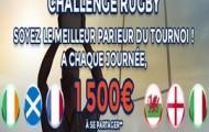 Challenge Six Nations de Rugby 2016 sur ParionsWeb : 1.500€ mis en jeu à chaque phase du tournoi