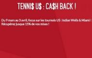 Pronostiquez les tournois de tennis US et Zebet vous rembourse une partie de vos paris perdus