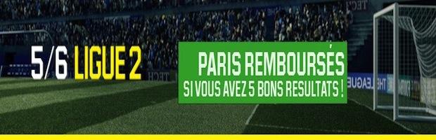 Unibet rembourse vos paris Ligue 2 jusqu'au 13 mai