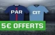 Gagnez 5€ avec Unibet si vous pariez sur PSG/City ou les autres ¼ de finale aller de la Ligue des Champions