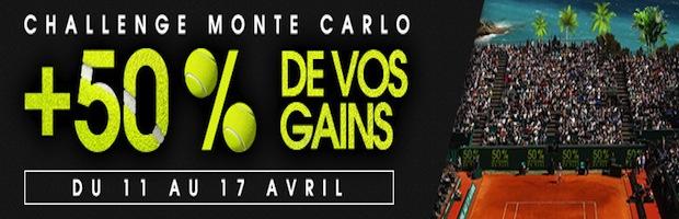 Challenge tennis Monte Carlo sur Netbet.fr
