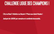 1/2 finales de Ligue des Champions sur Zebet : 2x1.000€ en jeu + combinés boostés de 15% du 26 avril au 4 mai