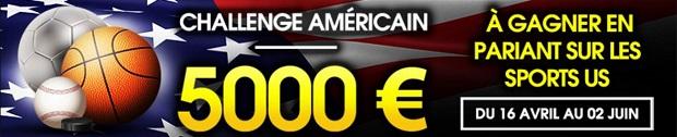Challenge sports américains sur NetBet