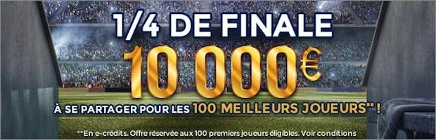 Challenge 1/4 de finale coupe d'europe sur ParionsWeb