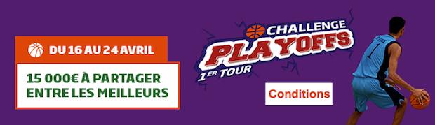 15.000 € à partager sur le premier tour des play-offs de basket US
