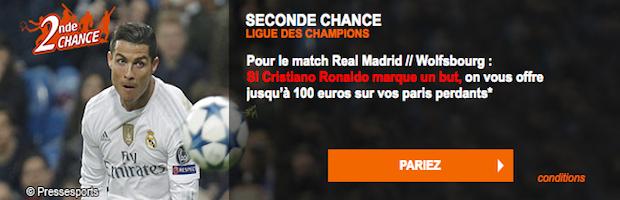 Pariez sur le quart de finale retour de Ligue des Champions Real Madrid / Wolsburg sur PMU.fr