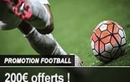 France Pari vous offre jusqu'à 200€ de bonus sur vos paris combinés 100% foot du 5 au 18 avril