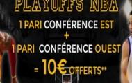 ParionsWeb vous offre 10€ d'e-crédits sur le premier tour des Playoffs NBA du 16 au 21 avril