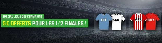 Les 1/2 finales aller de Ligue des Champions sur Unibet
