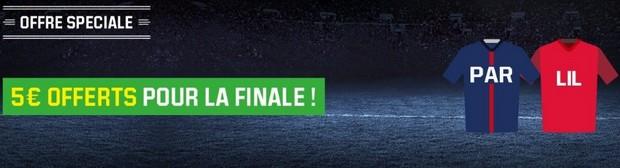 PSG-Lille en finale de la Coupe de la Ligue sur Unibet