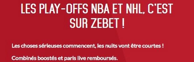 Les plays-offs NBA et NHL sur Zebet