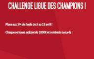 Challenge Ligue des Champions sur Zebet : 2x1.000€ mis en jeu + 10% de Cashback du 5 au 13 avril 2016