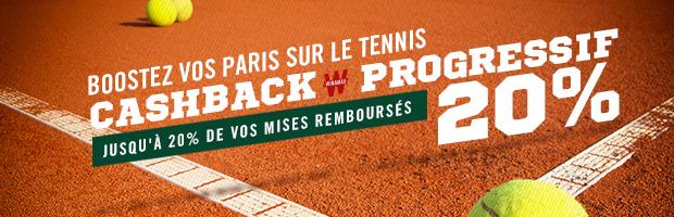 Roland Garros : jusqu'à 20% de vos paris Live remboursés avec winamax.fr