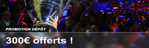 300€ offerts sur vos dépôts sur France Pari du 23 mai au 10 juin