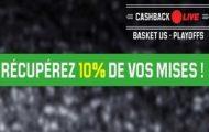 Pariez en Live sur les 1/2 finales des playoffs de NBA avec Unibet Sport : profitez de 10% de cashback