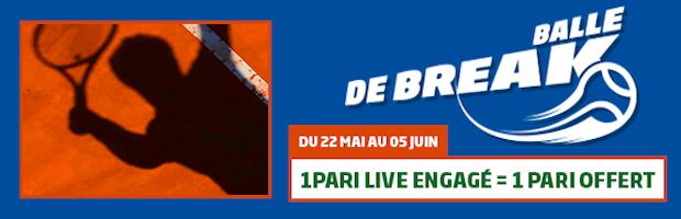 PMU Sport vous offre 5€ chaque jour durant Roland-Garros