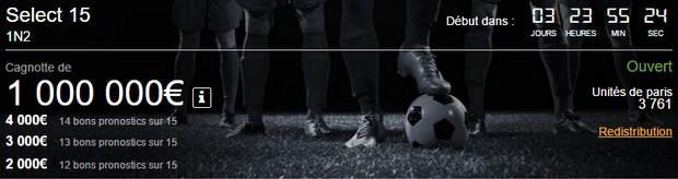 Pariez sur le foot avec Betclic.fr et sa grille Select 15