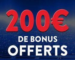 200+5 euros offerts avec le code promo France Pari