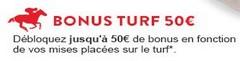 50€ offerts sur France Pari avec le code promo turf