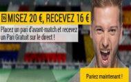 Misez sur Suisse-France avec Bwin : Pariez avant le match et recevez 16€ de paris gratuits pour le direct