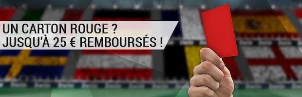 Euro 2016 : Bwin vous reverse jusqu'à 25€ en cas de carton rouge