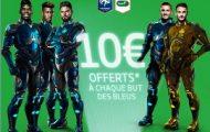 Pariez sur la France à l'Euro 2016 avec PMU et gagnez 10 euros à chaque but marqué par les Bleus