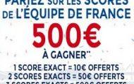 Pariez sur les matchs de poule des Bleus à l'Euro 2016 : Jusqu'à 500€ offerts avec Parions Sport (ParionsWeb)
