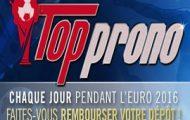"""""""Top Prono"""" sur Winamax : Votre dépôt remboursé jusqu'à 100€ chaque jour à l'occasion de l'Euro 2016"""