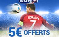 Pariez sur le 1/4 de l'Euro 2016 Pologne-Portugal avec France Pari : 5€ offerts si Ronaldo marque de la tête