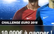 France Pari vous propose son Challenge Euro 2016 : 10.000€ sont à gagner du 10 juin au 10 juillet