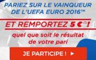 Pariez sur le vainqueur de l'Euro 2016 avec ParionsSport : 5€ offerts quelle que soit l'issue de votre mise