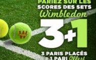 Pariez sur Wimbledon avec Winamax : 1 pari offert pour 3 enjeux placés du 27 juin au 10 juillet
