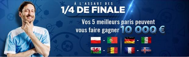 1/4 de finale de l'Euro sur Winamax.fr