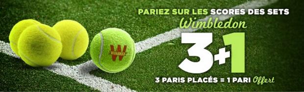 Mises gratuites à gagner sur Winamax pour Wimbledon