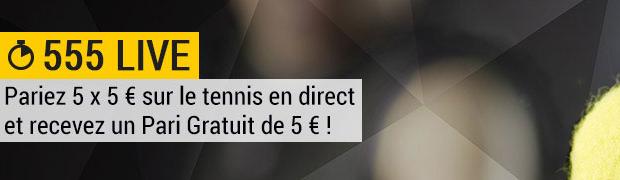 Du 15 juillet au 1er août pariez sur le tennis avec Bwin et participez à la promotion 555 Live