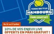 Tournoi de Tennis d'Hambourg sur PMU : 10% de vos mises Live remboursées du 11 au 17 juillet