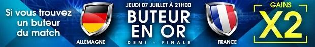 Offre Buteur en Or su NetBet pour la rencontre entre la France et l'Allemagne