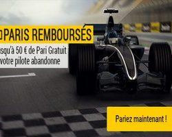 Grand Prix de Formule 1 sur Bwin