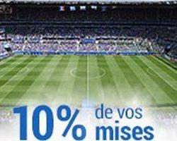 France-Pari vous rembourse 10% de vos mises foot en juillet