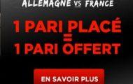 Promotion Betclic spéciale Allemagne-France : 1 pari engagé = 1 pari offert du 5 au 7 juillet 2016