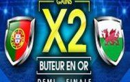 Portugal-Pays de Galles en 1/2 finale de l'Euro 2016 avec NetBet : Gains doublés si vous trouvez un buteur