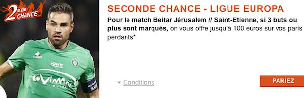 Pariez sur Jerusalem/Saint-Etienne avec PMU Sport