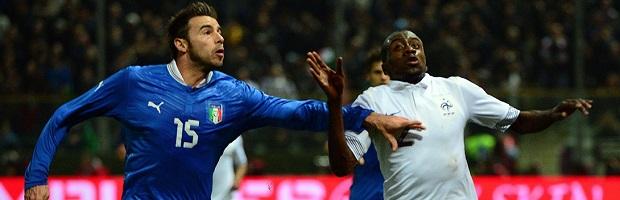 Duel très serré entre Matuidi et Barzagli lors du dernier France-Italie