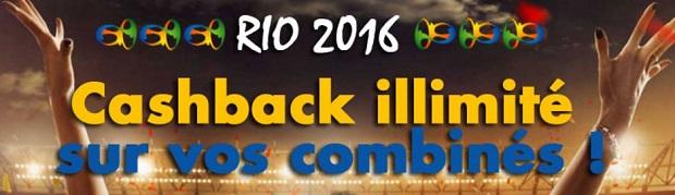 Cashback illimité pour les jeux de Rio avec Joa du 26/07 au 25/05